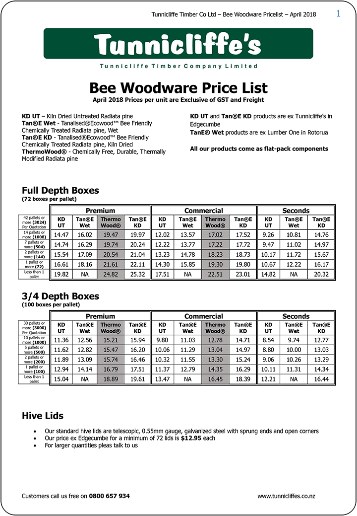 Tunnicliffe's-Bee-Woodware-Pricelist-April-2018-1
