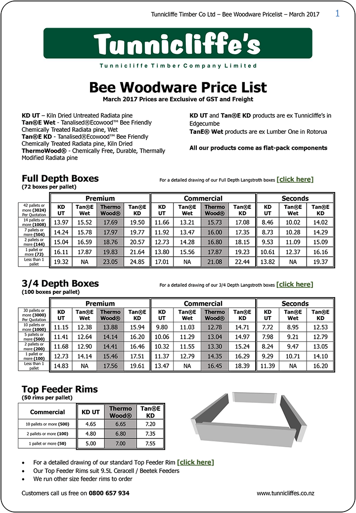 Tunnicliffe's-Bee-Woodware-Pricelist-March-2017-1